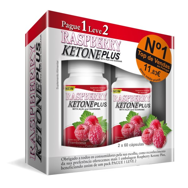 RASPBERRY KETONE PLUS 60 CÁPSULAS - PAGUE 1 LEVE 2