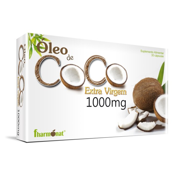 OLEO DE COCO EXTRA VIRGEM 1000 MG 30 CAPS