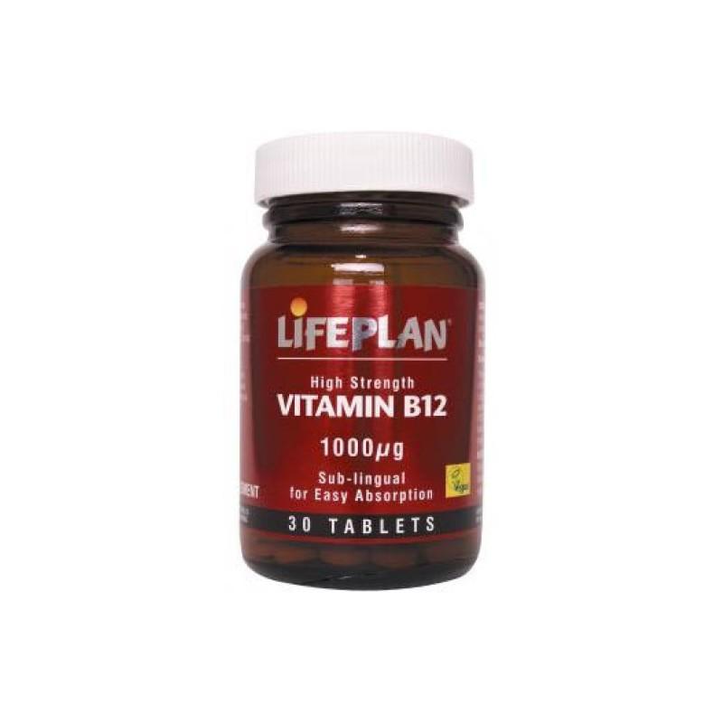VITAMINA B12 – COBALAMINA SUB-LINGUAL ALTA POTÊNCIA - 30 Comprimidos de 1000 ug