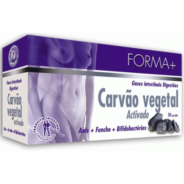 Carv?o Vegetal Activado - Forma + 30 cápsulas