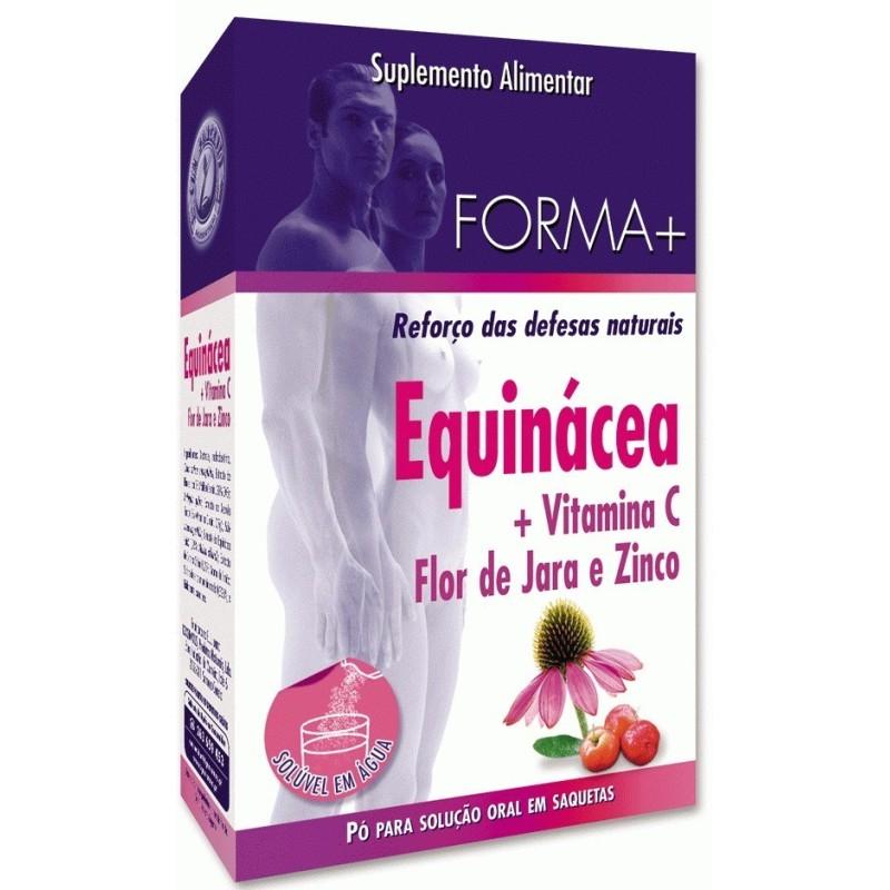 Equinácea + Vit C, Flor de Jara e Zinco - Forma + 10 saquetas