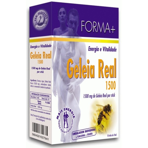 Geleia Real 1500mg - 10 Sticks - Forma +