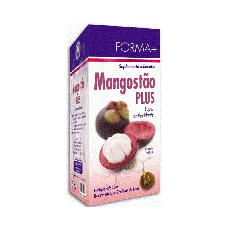 Mangostão plus - Super antioxidante - Forma + 500ml