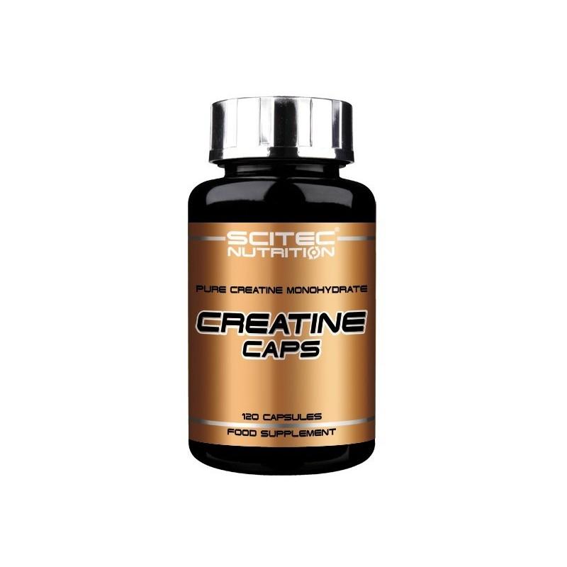 CREATINE CAPS Scitec - Mono-hidrato de creatina pura - 120 Cápsulas