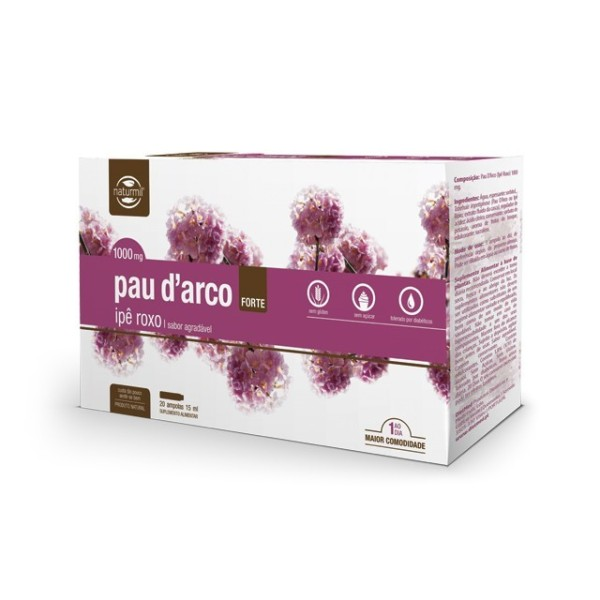 PAU D'ARCO 1000MG FORTE | 20 X 15ML AMPOLAS