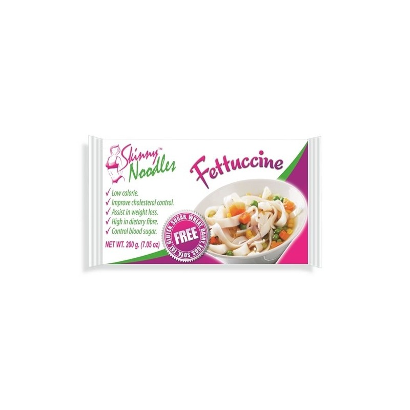 Skinny Noodles (shirataki noodles) - Dieta do Macarrão Konjac - Fettuccine