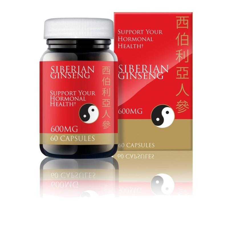 SIBERIAN GINSENG - ELEUTEROCOCUS - Ginseng Siberiano - 60 Cápsulas de 600 mg