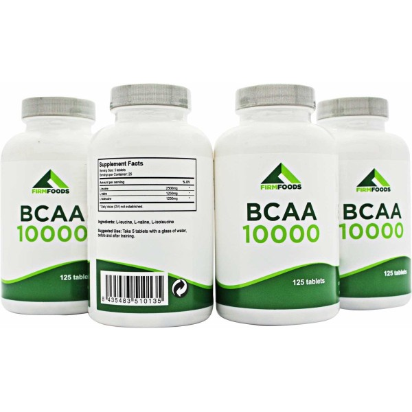 Firm Foods - BCAA 10000 - 125 Cápsulas