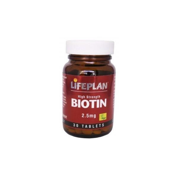 Biotina 30 Comprimidos de 2,5 mg