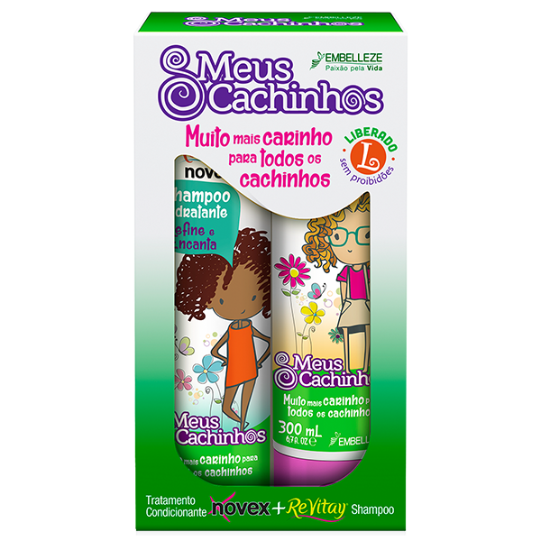 Kit Champô e Condicionador Novex Meus Cachinhos 300ml