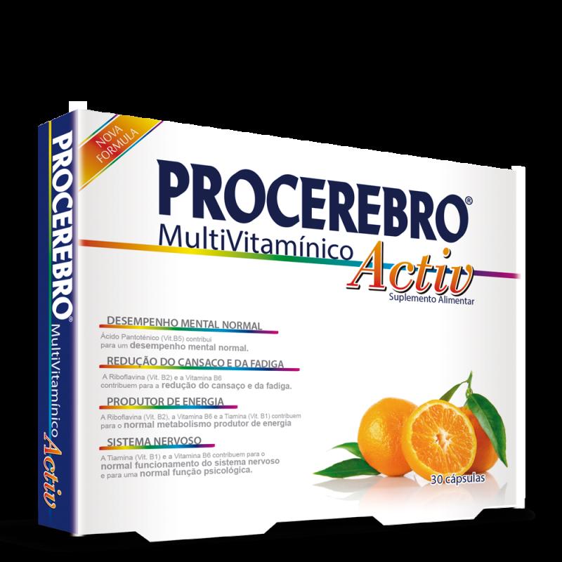 PROCEREBRO MULTIVITAMINICO ACTIV 30 Cápsulas