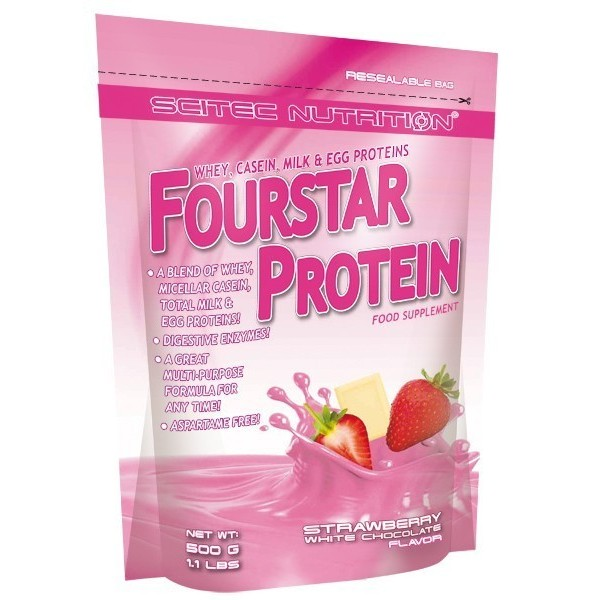 Fourstar Protein 500gr - Chocolate branco - morango