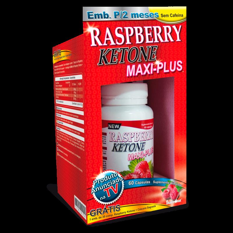 Raspberry ketone maxiplus Kit 60 cápsulas + 30 comprimidos
