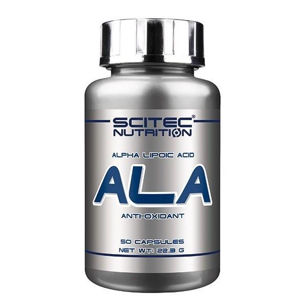 ALA Scitec - Ácido alfa-lipóico - Super Antioxidante 50 caps de 250mg