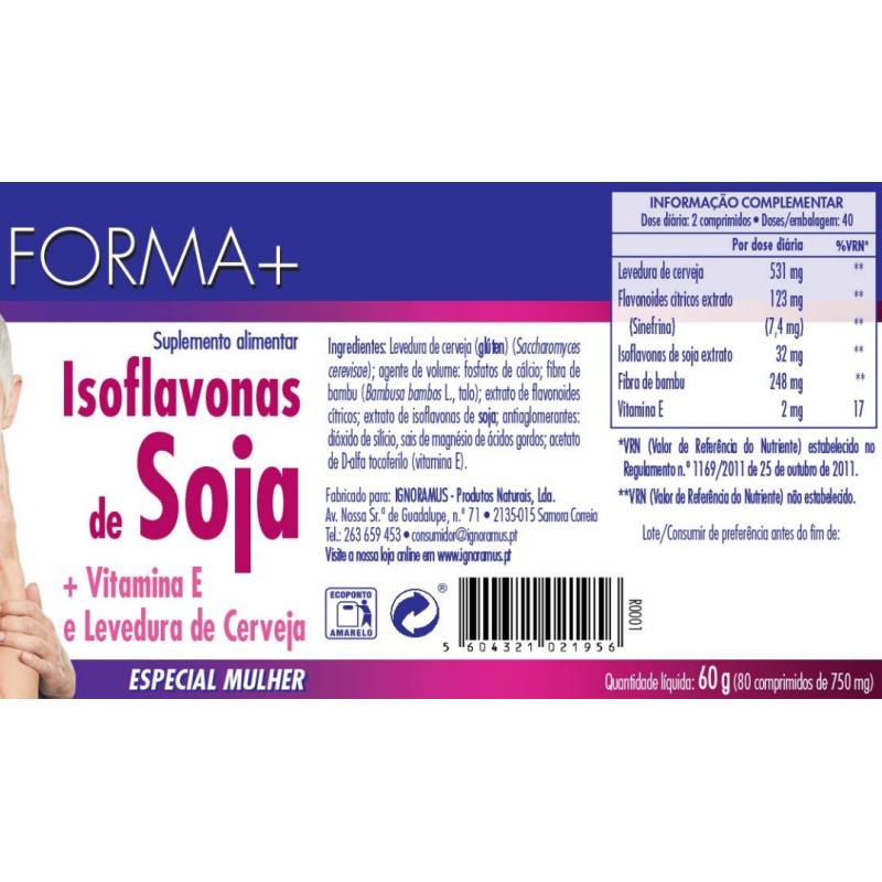 Isoflavonas - Menopausa - Forma + 80 comprimidos