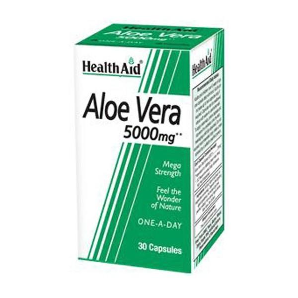 Saúde Aid Aloe Vera 5000mg, 30 cápsulas