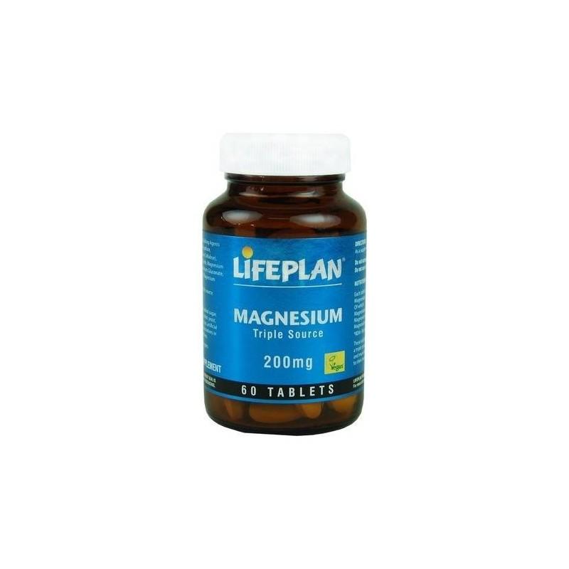 Magnésio - Fonte Tripla - 200mg x 60 Comprimidos