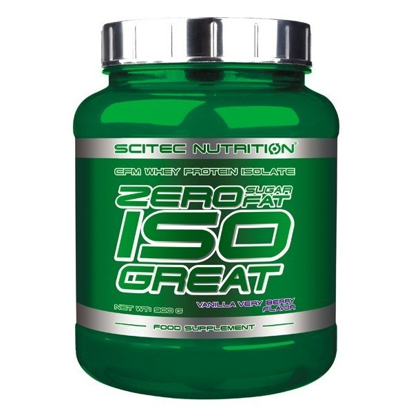ISOGREAT Proteina isolaa com zero açucar, zero gordura, zero carbohidratos - 900 gr.