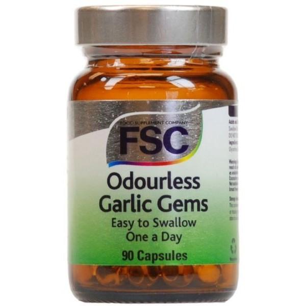 Odourless Garlic - ÓLEO DE ALHO sem Odor 90 Cápsulas de 1000 mg. FSC