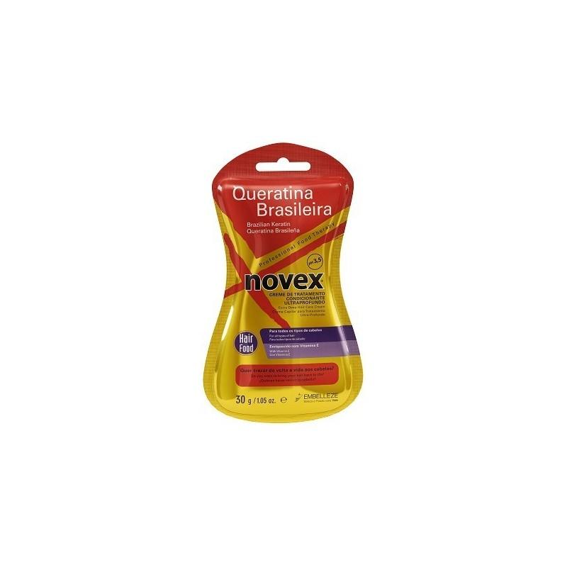Novex Queratina Brasileira 6 Saquetas Creme de Tratamento 30g