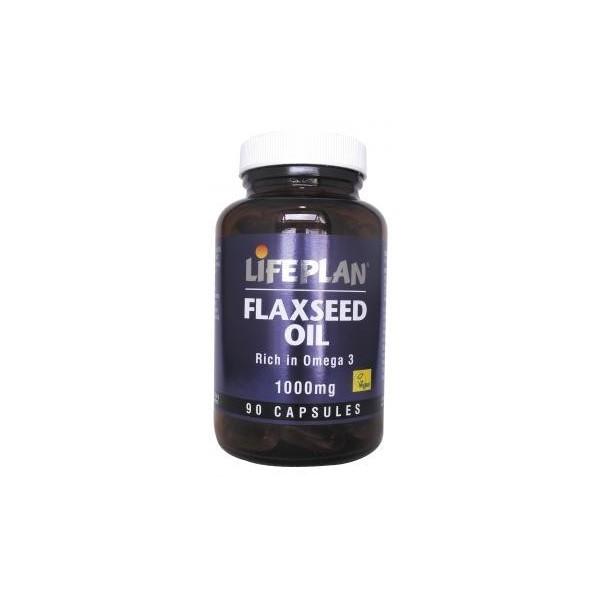 FLAXSEED OIL - OLEO DE LINHAÇA - 90 Cápsulas de 1000 mg