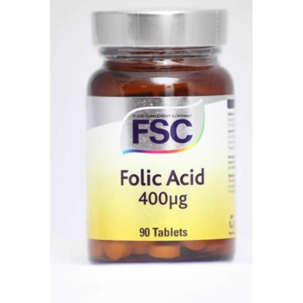 Folic Acid - Ácido Fólico FSC - 90 comprimidos de 400ug