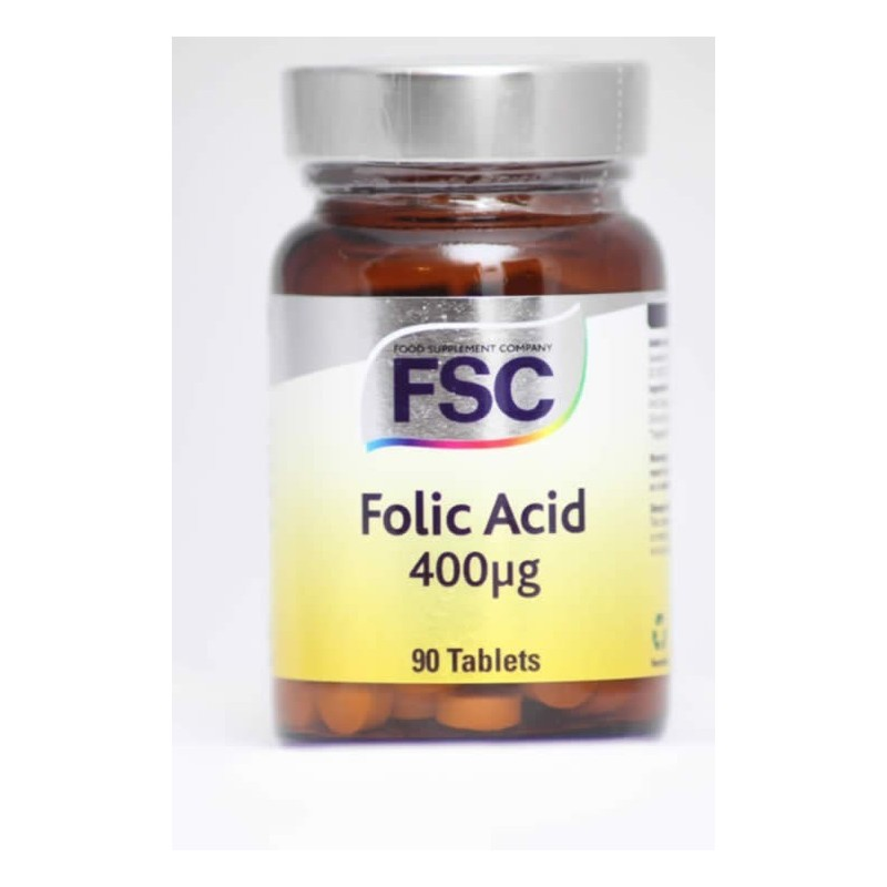 Folic Acid - Ácido Fólico - 90 comprimidos de 400ug