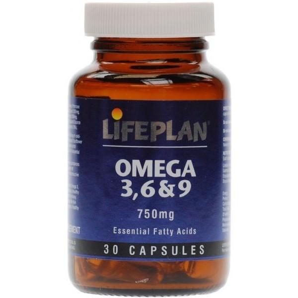 OMEGA 3, 6 & 9 - 30 Cápsulas de 750 mg