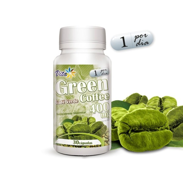 Café Verde - Green Coffee - 30 cápsulas de 400mg