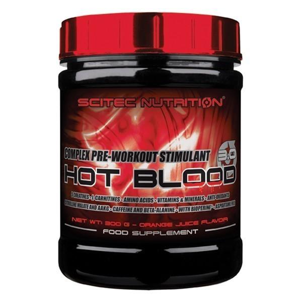 HOT BLOOD 3.0 - 300gr Scitec - Pó de Misturar - Estimulante pré-treino - 5 creatinas, aminoacidos
