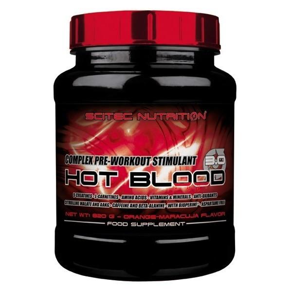 HOT BLOOD 3.0 - 820Gr Scitec - Pó de Misturar - Estimulante pré-treino - 5 creatinas, aminoacidos