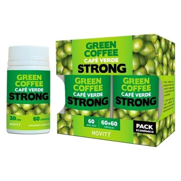 Café Verde Forte - Green Coffee - Pack económico 2 x 60 cápsulas de 200mg