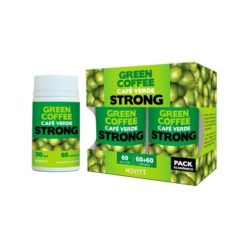 Green Coffee Strong - Pack 2 x 60 caps.