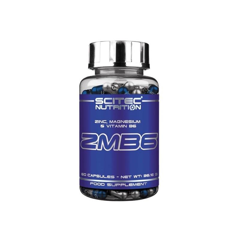 ZMB6 Zinco, magnésio e vitamina B6 - Scitec 60 Cápsulas