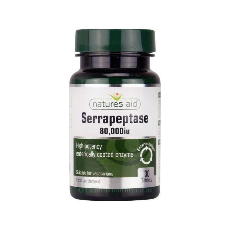 SERRAPEPTASE - 30 Comprimidos a 80.000UI - Natures Aid