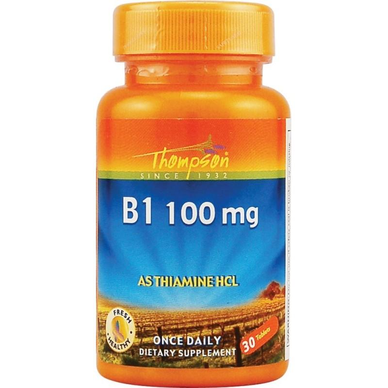 Thiamin - VITAMINA B1 (Tiamina) - 30 Comp. 100mg - Tompson