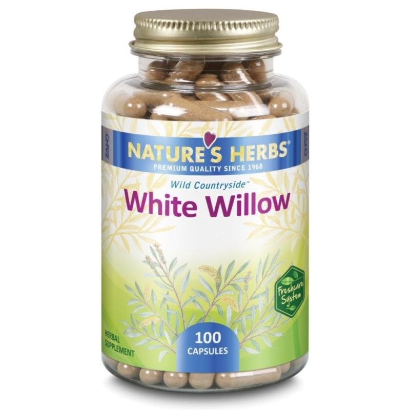 WHITE WILLOW - SALGUEIRO-BRANCO - 100 Cápsulas de 750mg - Nature's Herbs