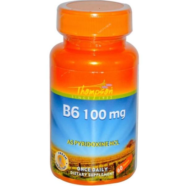 Vitamina B6 (Pyridoxina) 100mg x 60 comprimidos - Thomson