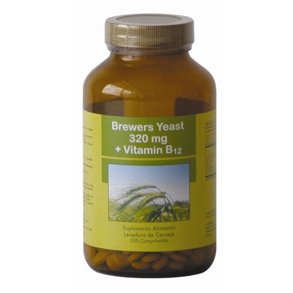 Brewers Yeast - Levedura de Cerveja + Vitamina B12- 500 comprimidos de 320mg