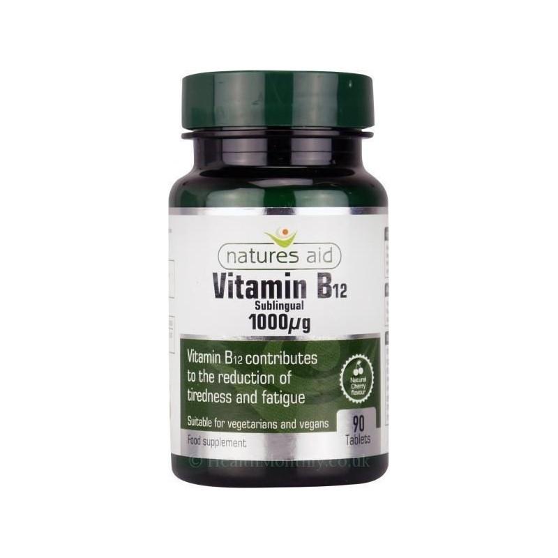 Vitamina B12 sub-lingual 90 cápsulas 1000μg