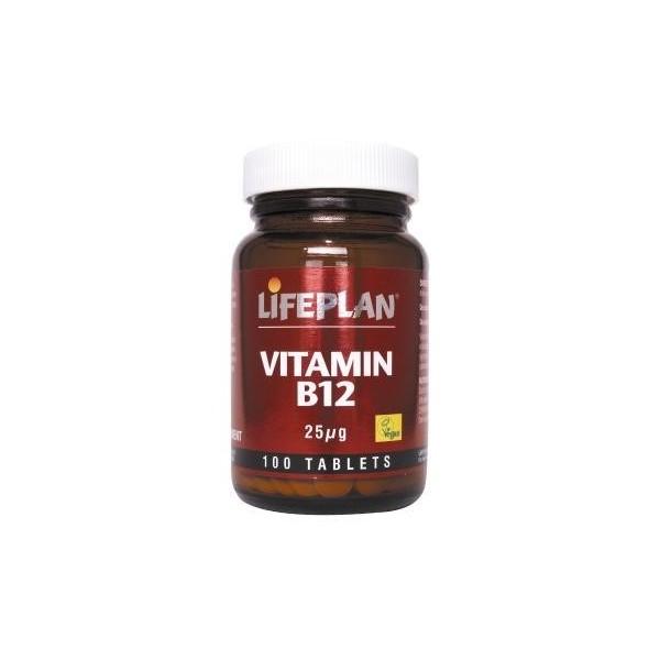 Vitamina B12 100 comprimidos de 25μg