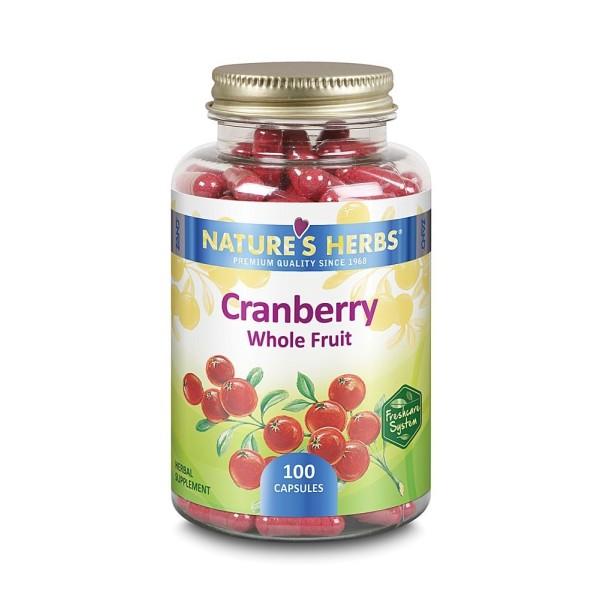 CRANBERRY FRUIT + Bioperine - 100 Caps. - ARANDO VERMELHO