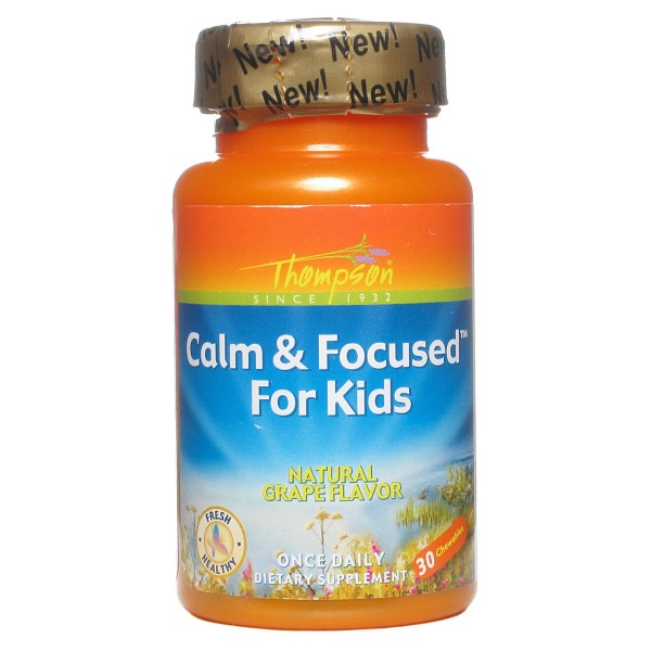 Calm & Focused for Kids - Calma e Focus p/Crianças - 30 Cápsulas Mastigáveis