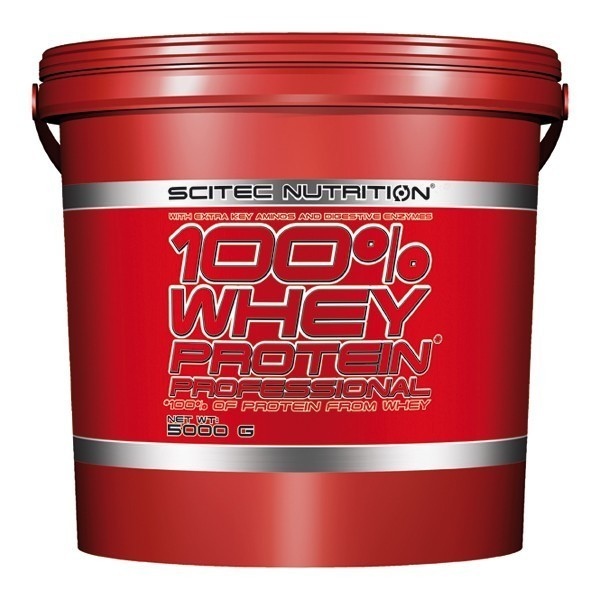 100% WHEY PROTEIN PROFESSIONAL Scitec Com aminoácidos essenciais - 5000 gr