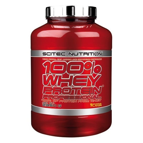 100% WHEY PROTEIN PROFESSIONAL Scitec Com aminoácidos essenciais - 2350 gr