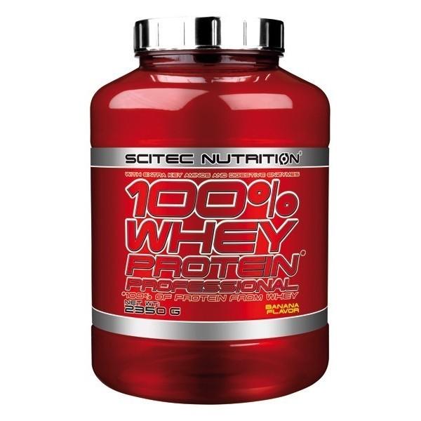 100% WHEY PROTEIN PROFESSIONAL Scitec Com aminoácidos essenciais - 2350 gr