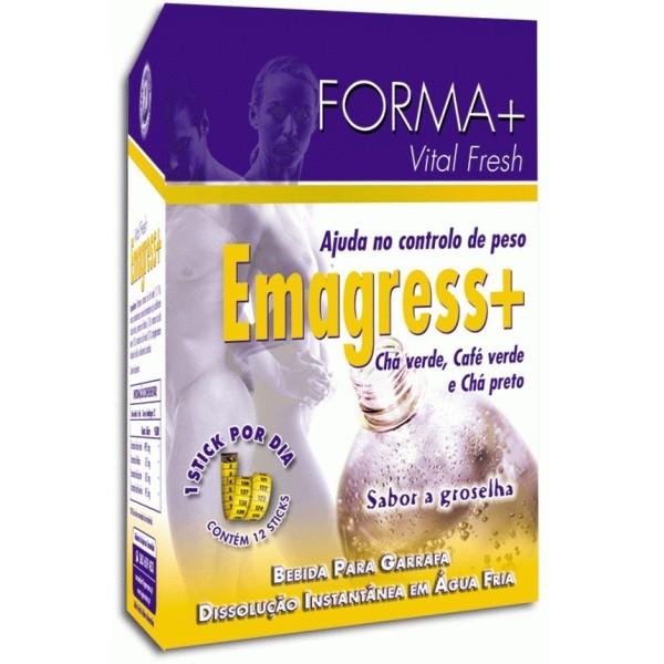 Emagress+ Bebida para dissolver. Controle o seu peso. Forma + 12 sticks