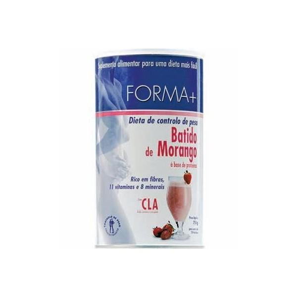 Batido de Morango c/Café Verde - Forma +